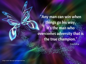 Quote - Any man can win when things go his way. It's the man who overcomes adversity that is the true champion.
